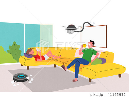 City of the future, Artificial Intelligence and daily life concept vector illustration 008 41165952