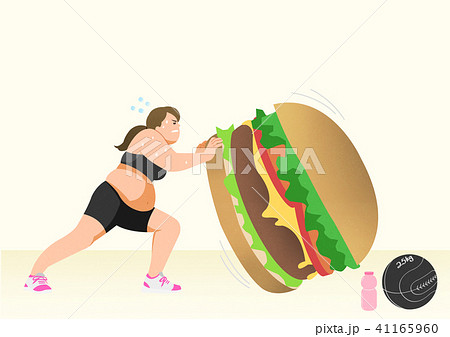 Doing exercises to lose Weight, health care concept illustration 008 41165960