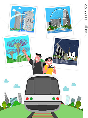 Trip to East asia, Travel Landmarks Vector Illustration 006 41165972