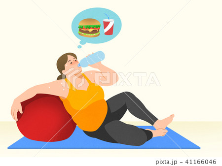 Doing exercises to lose Weight, health care concept illustration 014 41166046
