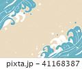 波 海 和柄のイラスト 41168387