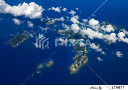 太平洋上空 慶良間諸島 空撮 41169665