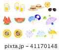 夏 水彩 アイコンのイラスト 41170148