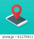 スマートフォン ベクトル pinのイラスト 41170911