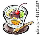 筆描き 食品 あんみつ 41171887