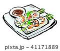 筆描き 食品 生春巻き 41171889