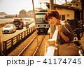 女性 旅行 鎌倉 夕方 ショートトリップ 散策 散歩 一人旅 41174745