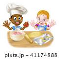 キッズ 子供 お菓子づくりのイラスト 41174888