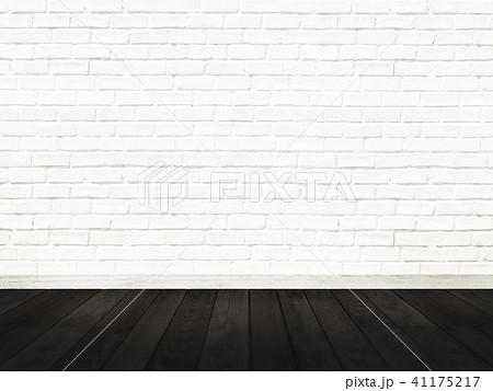 白壁-煉瓦-フローリング-床 41175217