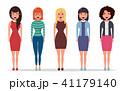 グループ 女性 メスのイラスト 41179140