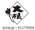 大根 筆文字 文字のイラスト 41179468