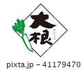 大根 筆文字 文字のイラスト 41179470