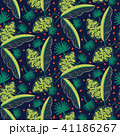 Jungle woods pattern. Green dark blue abstract textured vector background. 41186267