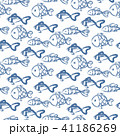 Hand drawn ocean fish abstract pattern vector texture. 41186269