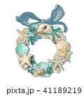 リボン リース 花冠のイラスト 41189219