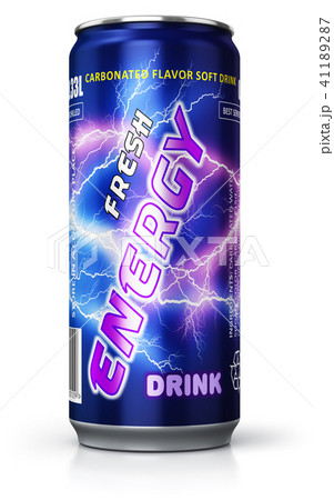 Energy drink in metal can 41189287
