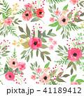 水彩画 シームレス パターンのイラスト 41189412