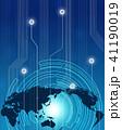 ビジネス グローバル 世界地図のイラスト 41190019