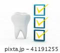 歯の衛生チェックのCG 41191255