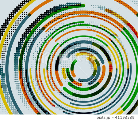 Circular lines, circles, geometric abstract background 41193539