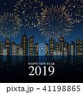 2019年 花火の新年の祝いの風景 41198865
