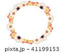 花 フレーム アネモネのイラスト 41199153