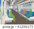 電車 車内 通勤のイラスト 41200173