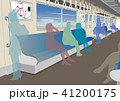 電車 車内 通勤のイラスト 41200175