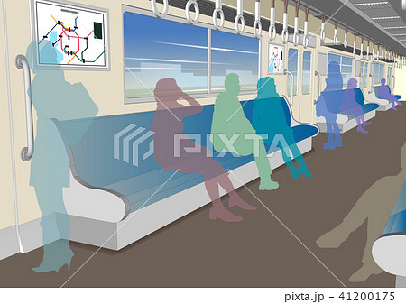 電車内の風景のイラスト素材 41200175 Pixta