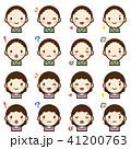 ベクター セット 表情のイラスト 41200763