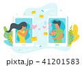 携帯電話 コミュニケーション 交流のイラスト 41201583