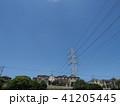 電線のある風景 41205445