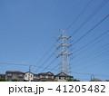 電線のある風景 41205482