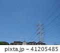 電線のある風景 41205485