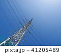 電線のある風景 41205489