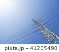 電線のある風景 41205490