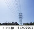 電線のある風景 41205503
