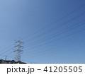 電線のある風景 41205505