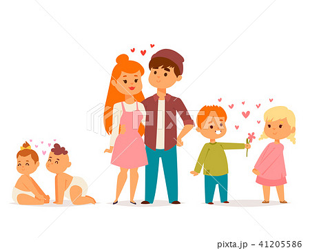 Couple in love vector characters togetherness happy smiling people romantic woman amorousness 41205586