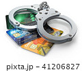 Credit card with handcuffs isolated on white  41206827