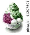 かき氷 デザート 氷菓のイラスト 41207601