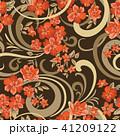 花 フローラル 背景のイラスト 41209122