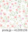 花 フローラル 背景のイラスト 41209136