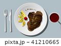 ステーキ ビーフ 食のイラスト 41210665