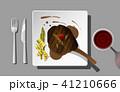ステーキ ビーフ 食のイラスト 41210666