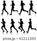ランナー 走者 セットのイラスト 41211305