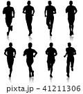 ランナー 走者 セットのイラスト 41211306