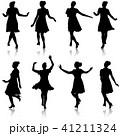 人影 影 シルエットのイラスト 41211324