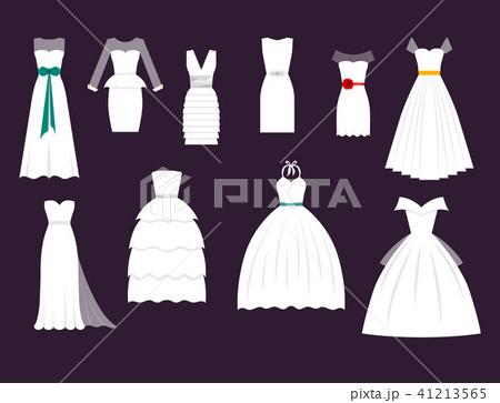 1f0dbf750589b Wedding white bride vector dress elegance fashion style celebration bridal  shower weddind-day