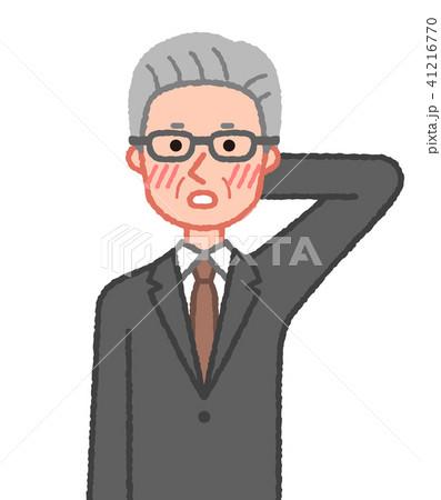 スーツ 赤面するシニア男性 41216770